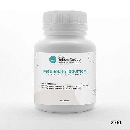 Metilfolato 2000mcg + Metilcobalamina 500mcg - 100 doses