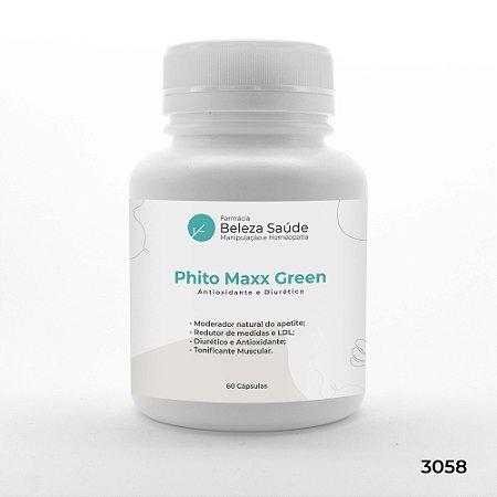 Phito Maxx Green - 3 Ativos - Antioxidante e Diurético - 60 Cápsulas
