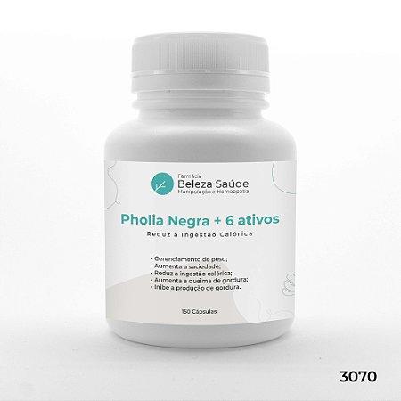 Pholia Negra + 6 Ativos - Reduz a Ingestão Calórica - 150 Cápsulas