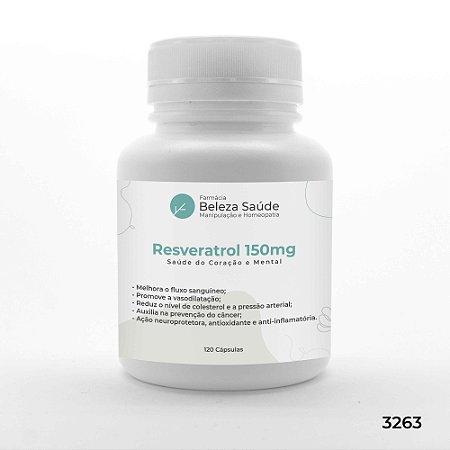 Resveratrol 150mg Saúde do Coração e Mental - 120 Cápsulas