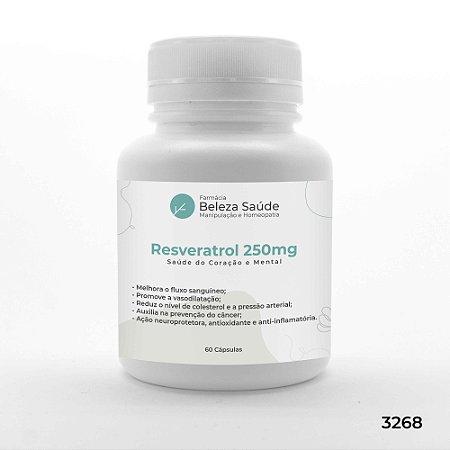 Resveratrol 250mg - Saúde do Coração e Mental - 60 Cápsulas