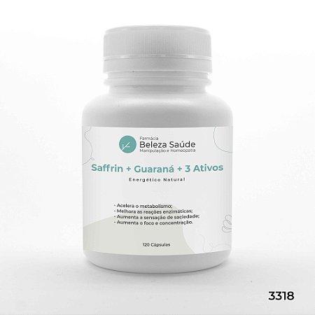 Saffrin + Guaraná + 3 Ativos - Energético Natural - 120 Cápsulas