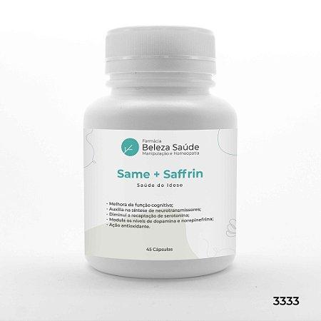 Same + Saffrin - Saúde Do Idoso - 45 Cápsulas