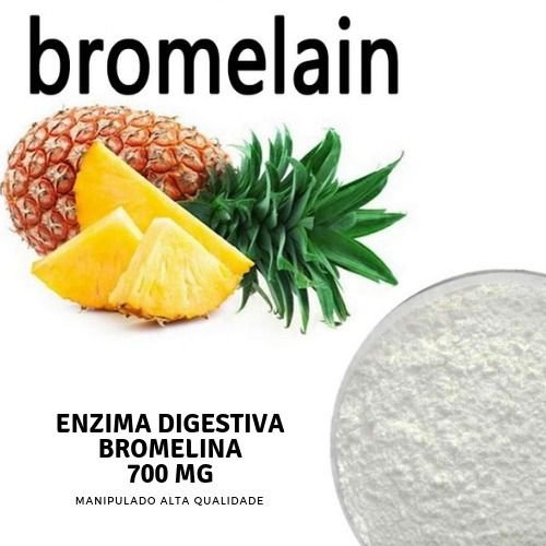 Bromelina 750mg Saúde Física e Sistema Digestivo