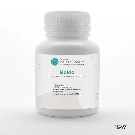 Boldo + Camomila + Curcuma + 3 ativos : Composto Detox