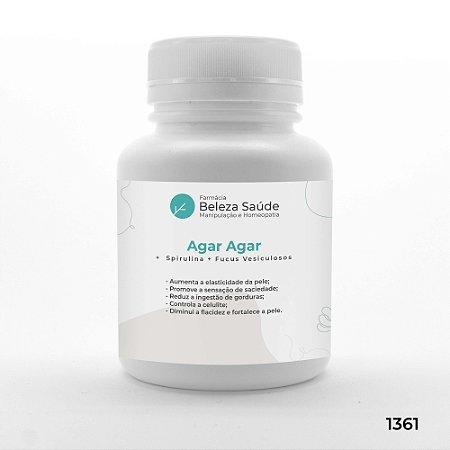 Agar Agar +  Spirulina + Fucus Vesiculosos - Antioxidante