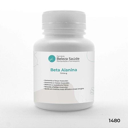 Beta Alanina 750mg Força Muscular Combate Fadiga