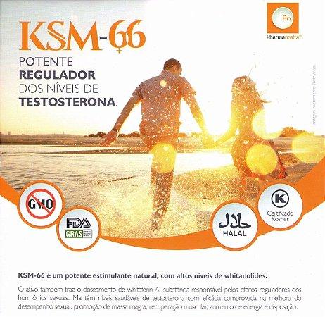 Ksm-66  500mg - Ativo Melhora o Desempenho e Aumenta Energia