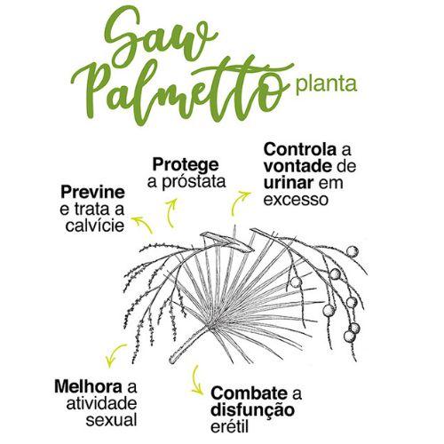 Saw Palmeto 200mg  Saúde da prostata