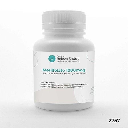 Metilfolato 1000mcg + Metilcobalamina 500mcg + B6 15mg