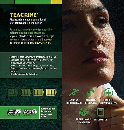 Teacrine 220mg 60 Cápsulas + Tribullus Terrestris 800mg 60 Cápsulas : 2 Suplementos - Potência, Força, Estimulante