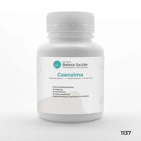 Coenzima + Resveratrol + Hialurônico + 6 Ativos
