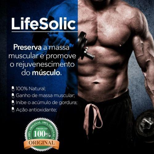 Lifesolic 150mg ( Ácido Ursólico )  Ganho de Massa Muscular