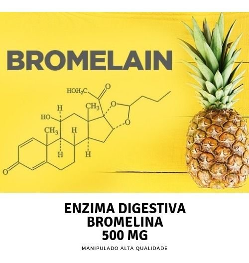 Bromelina 500mg Saúde do Sistema Digestivo