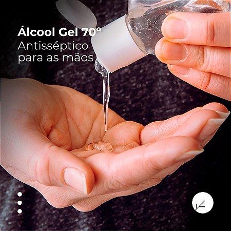 Álcool em Gel 70% : Antisséptico para as mãos em Bisnaga para Levar na Bolsa 300ml