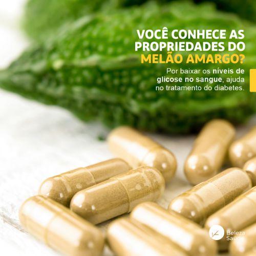 Bitter Melon ( Melão De São Caetano ) 500mg - Auxilia a reduzir os níveis de glicose no sangue