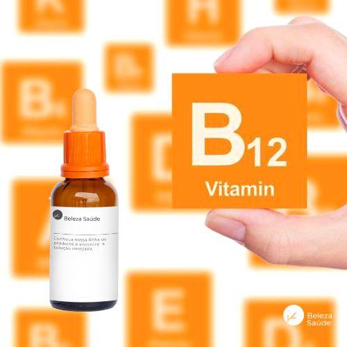 Vitamina B12  500mcg  Líquido : Frasco Conta Gotas