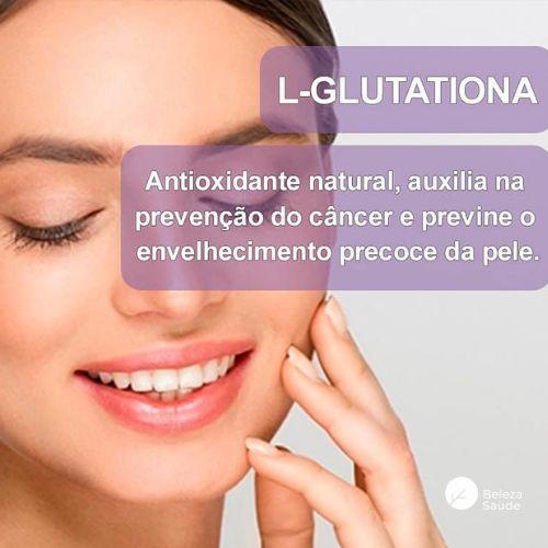 L Glutationa 250mg - Glutathione Gluta Antioxidante  Antienvelhecimento da Pele