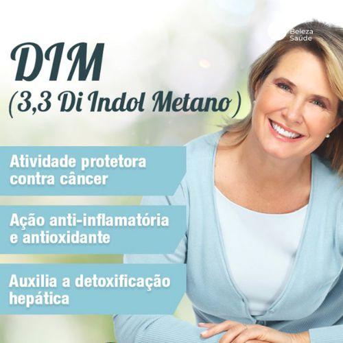 Dim ( Di-indol Metano ) 50mg : Equilíbrio Hormonal Proteção Contra os Efeitos Maléficos dos Estrógenos