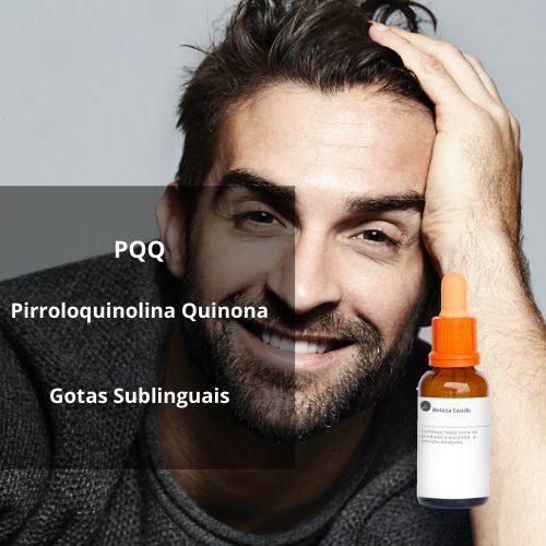 Pqq Pirroloquinolina Quinona : Gotas Sublinguais para Combater os Cabelos Brancos