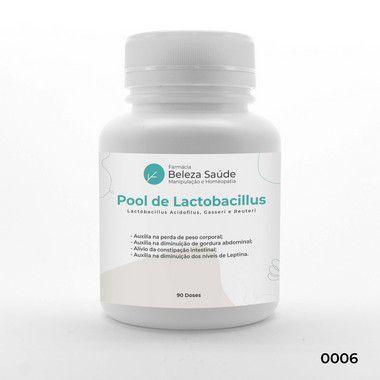 Pool de Lactobacillus - Probiótico para Emagrecer e Permanecer Magro Fórmula Dr. Lair Ribeiro - 90 Cápsulas