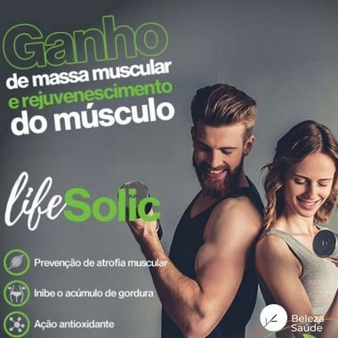 Lifesolic  450mg ( Ácido Ursólico ) Ganho de Massa Muscular - 90 doses