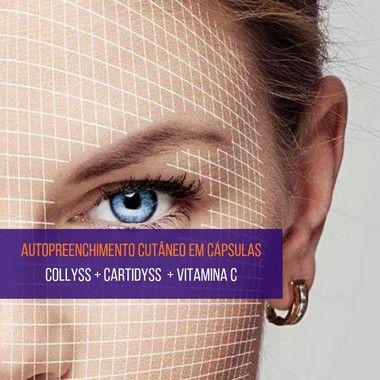 Cartidyss 300mg + Collyss 1g + Vitamina C 500mg - 45 sachês