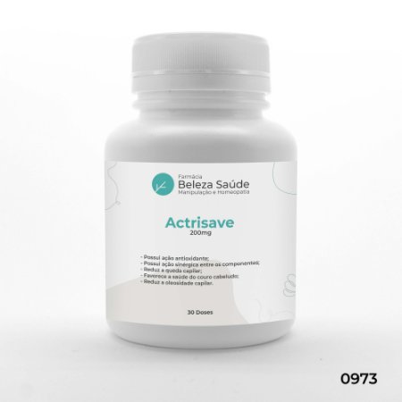 Actrisave 200mg Tratamento da Queda de Cabelos - 30 doses