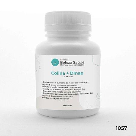 Colina + Dmae + 2 Ativos - Foco, Concentração e Memória - 60 doses