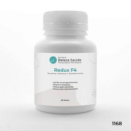Redux F4 - Diurético, Calmante e Desintoxicantes - 60 doses