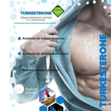 Turkesterone 1000mg  Ajuga Turkestanica : Aumento da Massa Magra e Testosterona - 60 doses