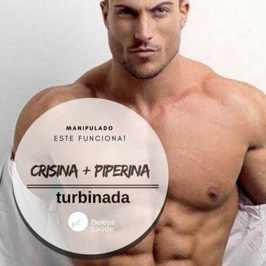 Crisina 500mg + Piperina 5mg - Saúde Corporal - 60 doses