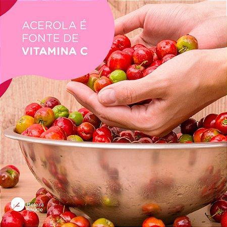 Acerola 500mg : ( Rica Em Vitamina C ) 120 Cápsulas
