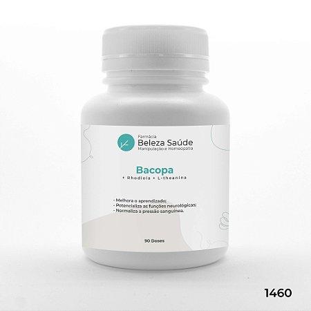 Bacopa + Rhodiola + L-theanina - Aprendizado e Foco - 90 doses