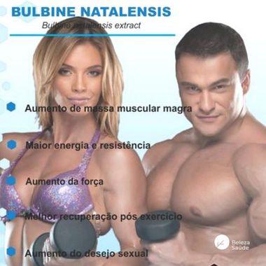 Bulbine Natalensis 250mg : Aumento de Massa Muscular Magra, Maior Energia e Resistência - 120 doses