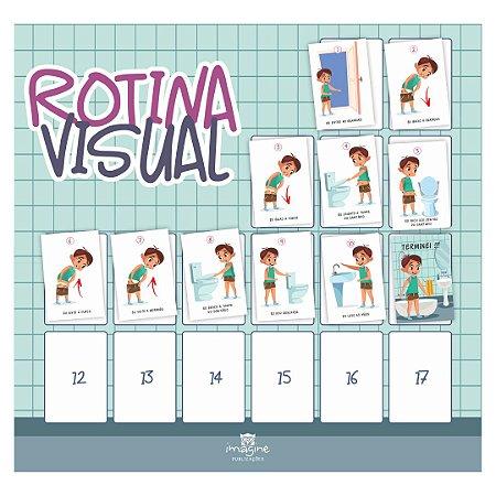 Rotina Visual - Eu sei usar o banheiro (menino - xixi)