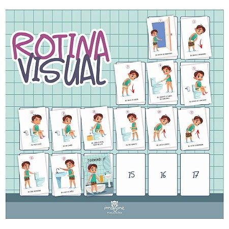 Rotina Visual - Eu sei usar o banheiro (menino - cocô)