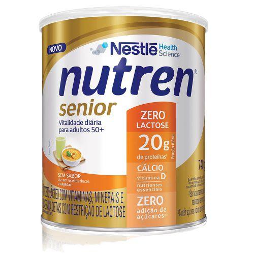 NUTREN SENIOR ZERO LACTOSE 740G - NESTLE