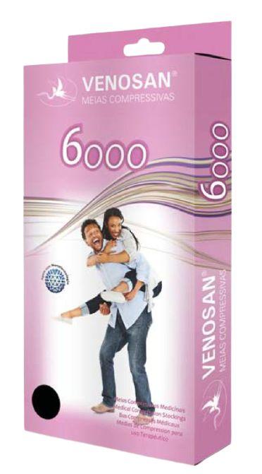 MEIA VENOSAN 6000 AGH 7/8 20-30 MMHG BEGE PONTEIRA ABERTA