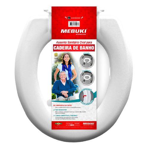 ASSENTO SANITARIO OVAL PARA CADEIRA DE BANHO MEBUKI