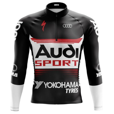 Camisa Ciclismo Mountain Bike Audi Manga Longa