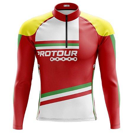 Camisa Ciclismo Mountain Bike Pro Tour Itália Manga Longa