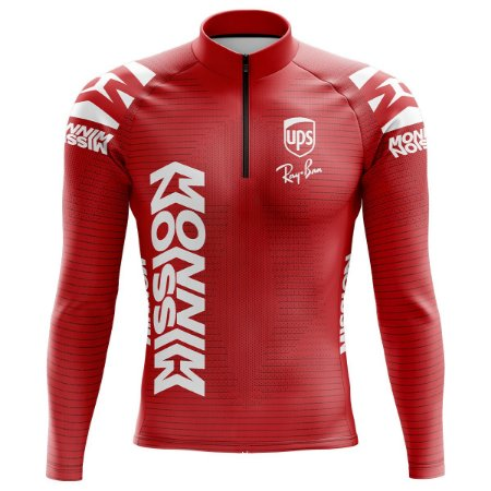 Camisa Ciclismo Mountain Bike Pro Tour Ferrari Manga Longa