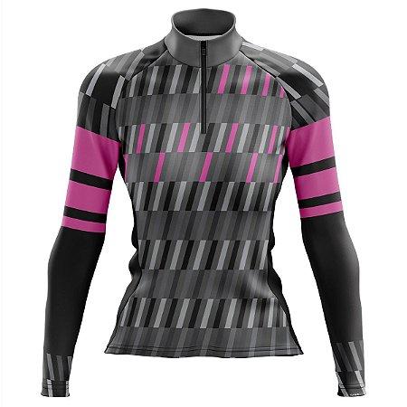 Camisa Ciclismo Mountain Bike Feminina Pro Tour Proper Manga Longa