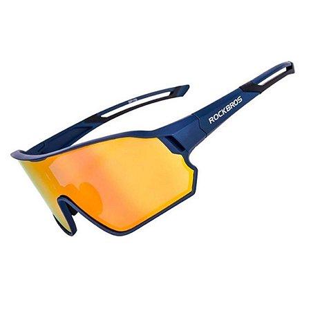 óculos de Ciclismo Unissex Rockbros Azul