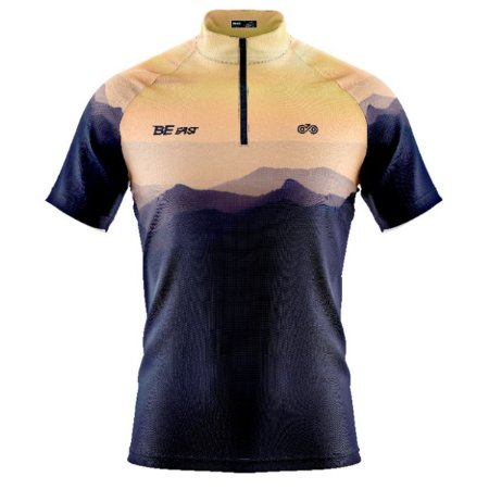 Camisa Ciclismo Mountain Bike Preta Banco Areia Modelo 245