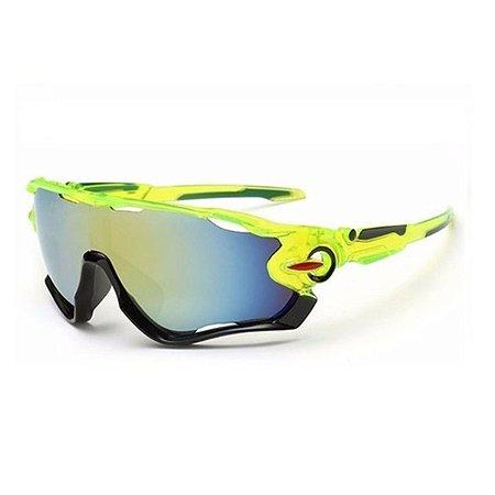 Óculos de Ciclismo Unissex Verde Neon