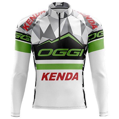 Camisa Ciclismo Mountain Bike Oggi Kenda Manga Longa