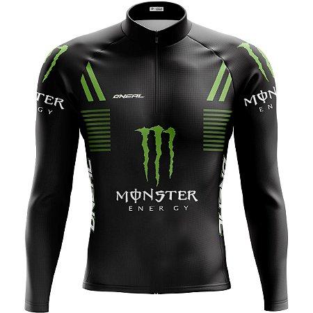 Camisa Ciclismo Mountain Bike Monster Manga Longa