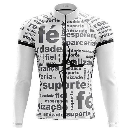 Camisa Ciclismo Mountain Bike Pro Tour Fé Manga Longa